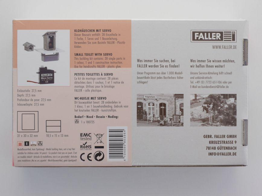 H0 Faller 180396 Klohäuschen mit Servo