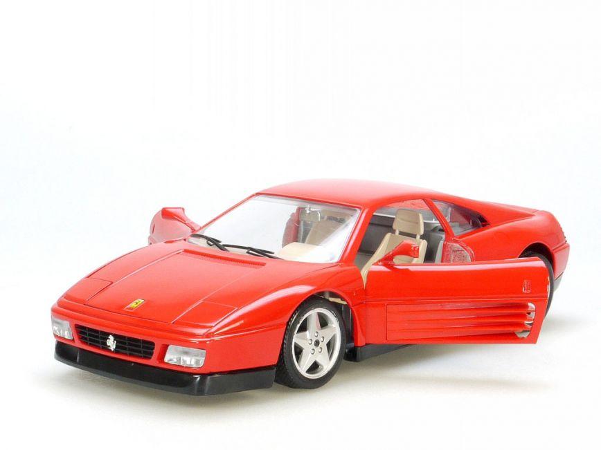 Ferrari 348 TS Targa Coupe Rot 1989-1995 1//18 Bburago Modell Auto mit oder ohne